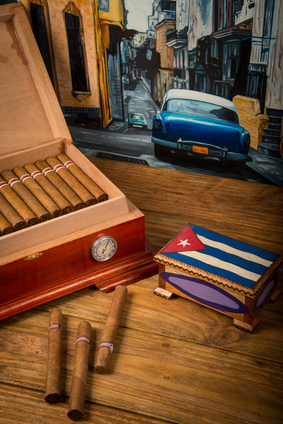 cuban cigars flag