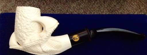 Handcarved Meerschaum Smoking Pipe