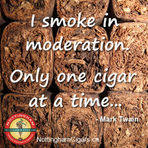 Twain Cigar Quote Moderation