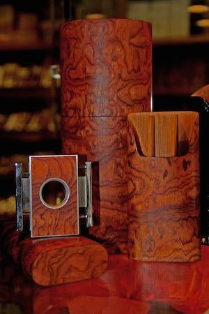 BUBINGA Cigar case Brizard