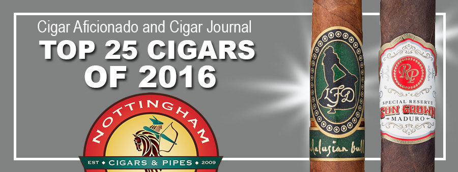 2016 Top 25 Cigars